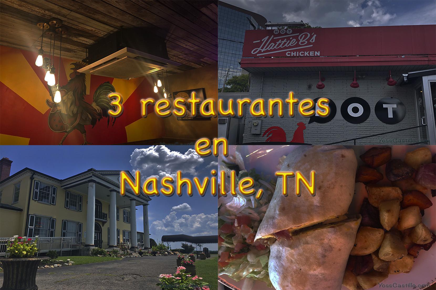 3 restaurantes en Nashville